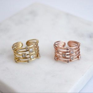 Layered Adjustable Ring